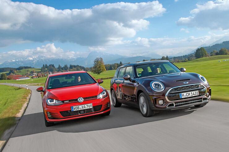 Mini Cooper S Clubman Gegen Vw Golf Gti Auto Motor Und Sport