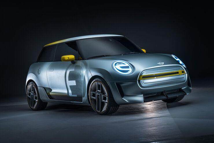 elektroauto mini e 2019 showcar mit elektro motor. Black Bedroom Furniture Sets. Home Design Ideas