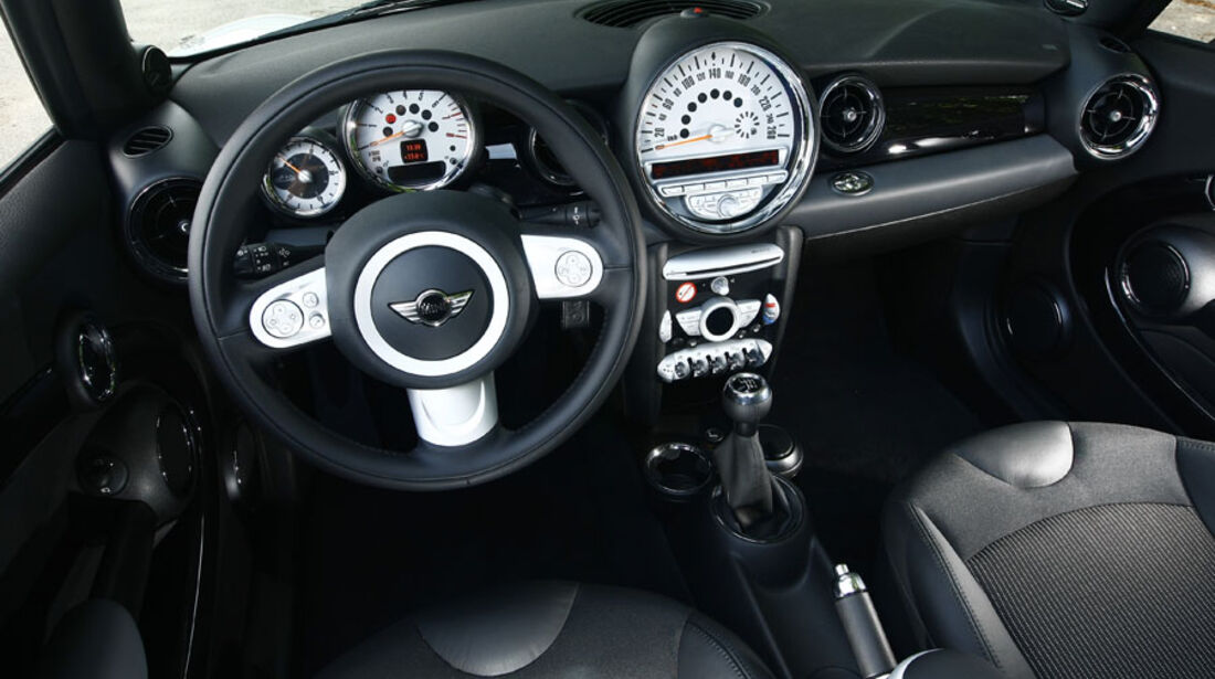 Mini One Cabrio, Cockpit