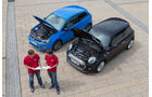 Mini One D, VW Polo 1.4 TDI Blue Motion, Motorhauben