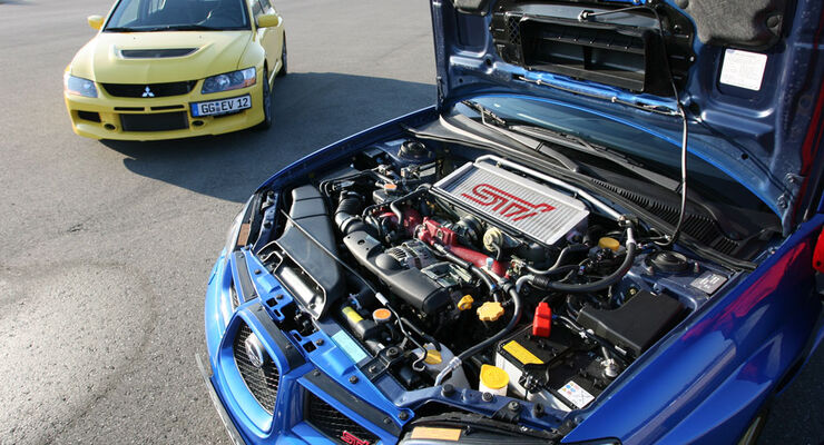 Mitsubishi Lancer Evo IX - Subaru Impreza WRX STi 02
