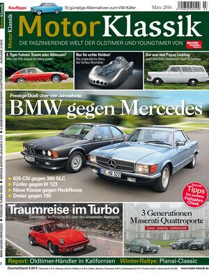 Motor Klassik Heftinhalt Ausgabe 03/2016