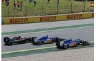 Nasr - Ericsson - Button - GP Spanien 2015 - Rennen - Sonntag - 10.5.2015