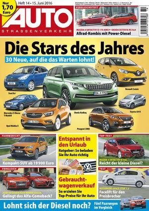 Neues Heft, AUTOStrassenverkehr, Ausgabe 14/2016, Vorschau