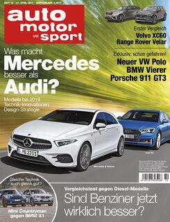 Neues Heft auto motor und sport, Ausgabe 10/2017, Vorschau