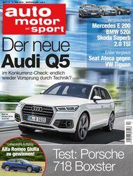 Neues Heft auto motor und sport, Ausgabe 13/2016, Vorschau, Preview