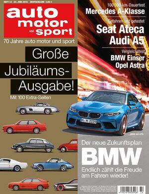 Neues Heft auto motor und sport, Ausgabe 14/2016, Vorschau, Preview