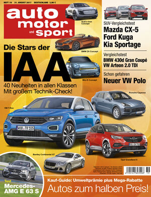 auto motor und sport heft 19 2017. Black Bedroom Furniture Sets. Home Design Ideas
