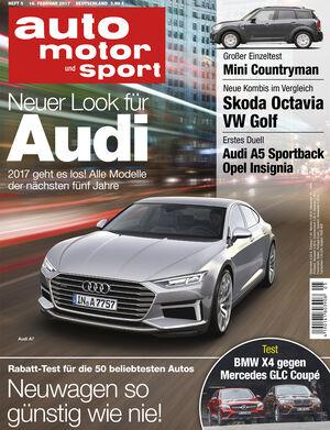 Neues Heft auto motor und sport, Ausgabe 5/2017, Vorschau