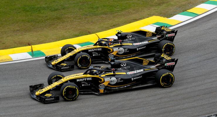 Nico Hülkenberg - Carlos Sainz - Renault - GP Brasilien 2018