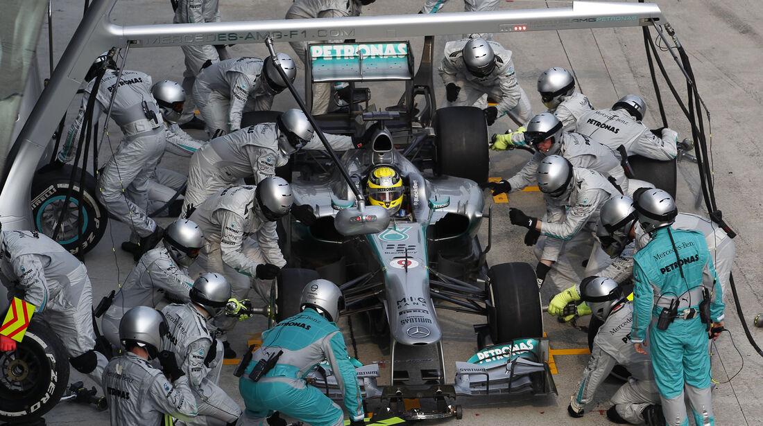 Nico Rosberg Boxenstopp GP Malaysia 2013