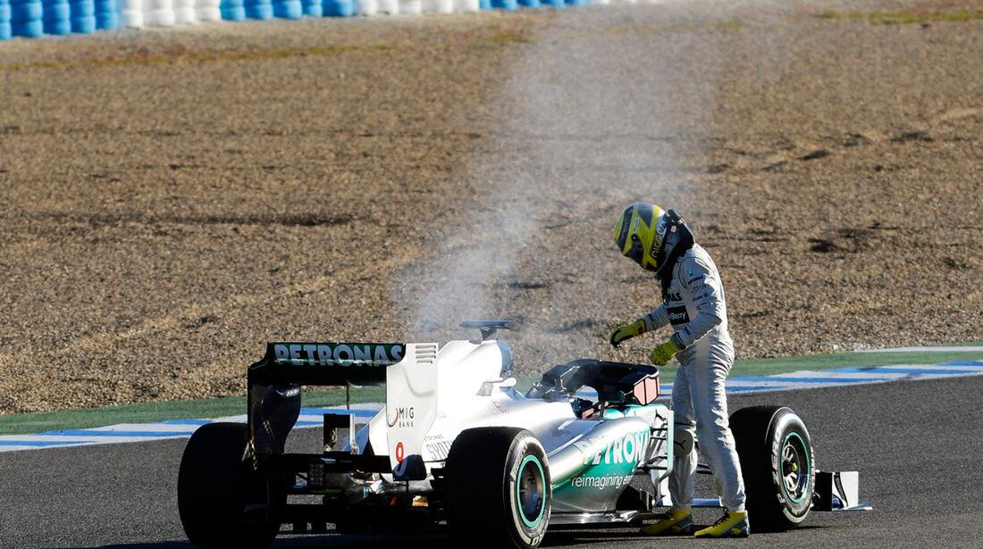 Nico Rosberg Mercedes F1 Test Jerez 2013 Highlights