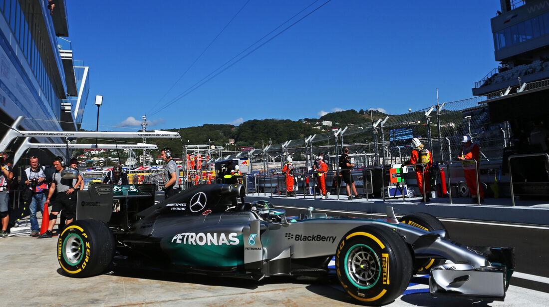 Nico Rosberg - Mercedes - Formel 1 - GP Russland - Sochi - 10. Oktober 2014