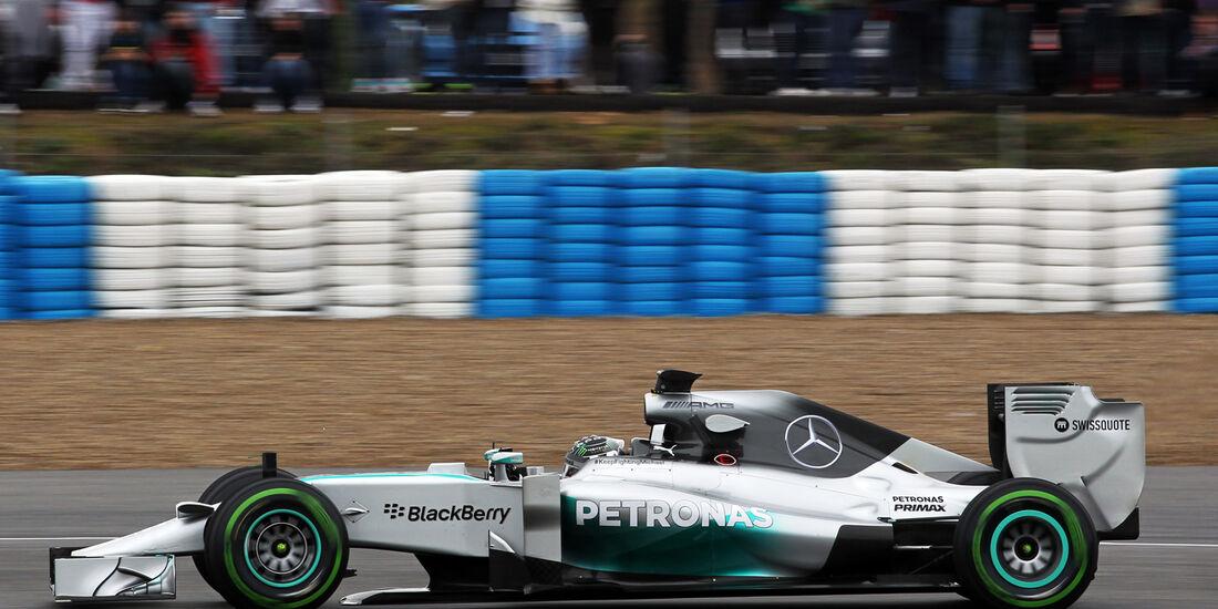 Nico Rosberg - Mercedes - Formel 1 - Jerez - Test - 30. Januar 2014
