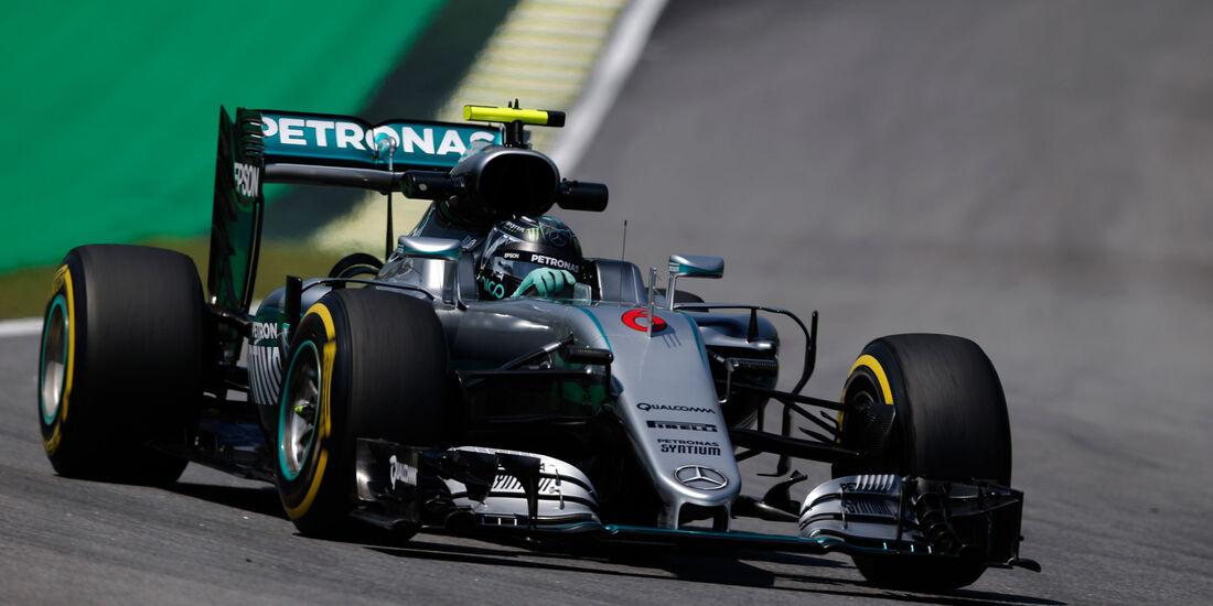 Nico Rosberg - Mercedes - GP Brasilien - Interlagos - Freitag - 11.11.2016