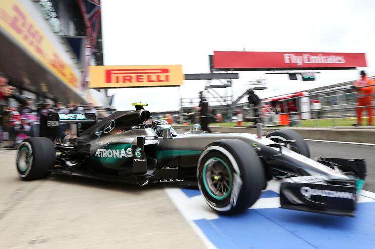 Nico Rosberg - Mercedes - GP England - Silverstone - Formel 1 - Freitag - 8.7.2016