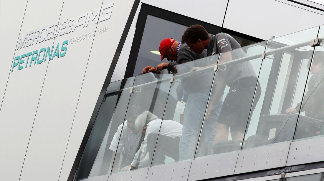 Niki Lauda & Bernie Ecclestone - Formel 1 - GP Deutschland - 5. Juli 2013