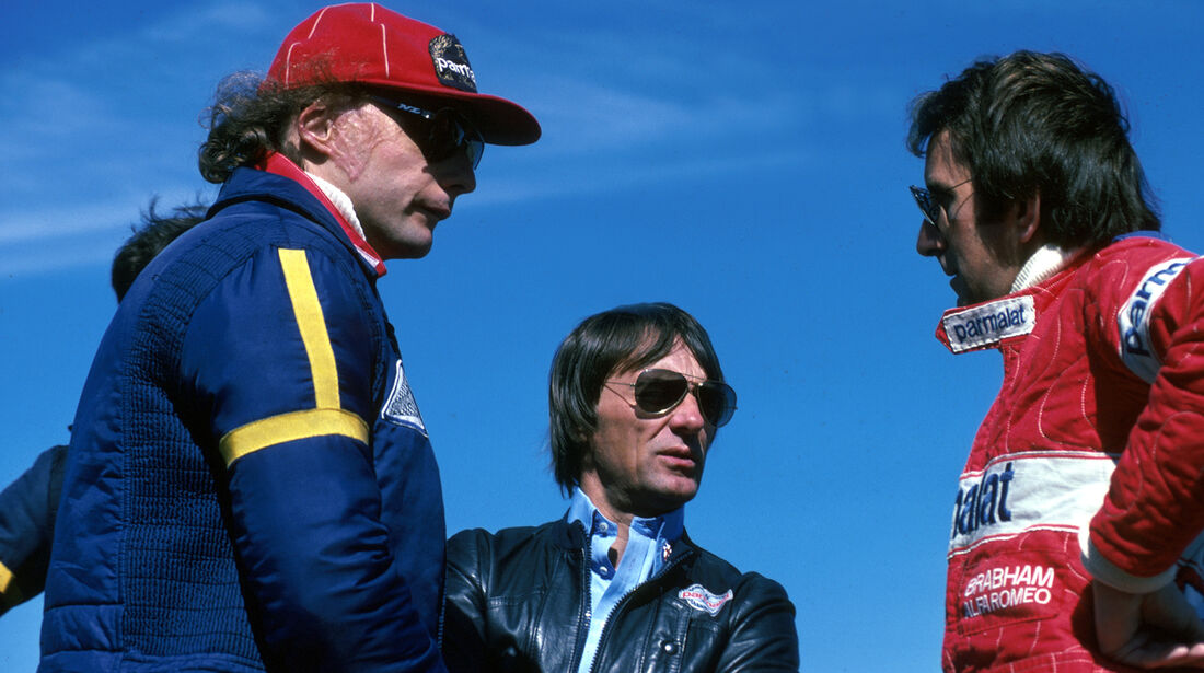 Niki Lauda - Bernie Ecclestone - John Watson - GP Schweden 1978 - Anderstorp