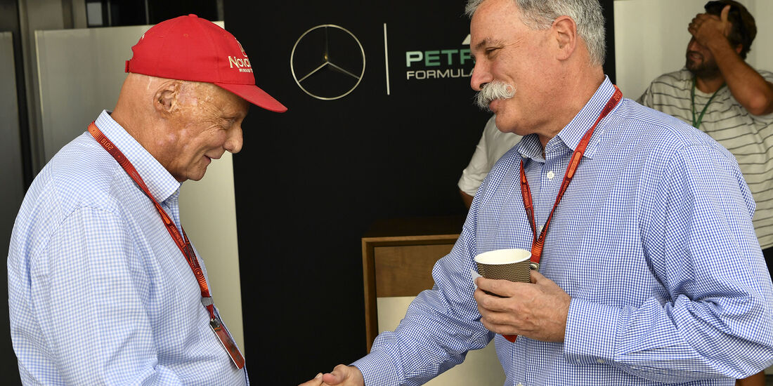 Niki Lauda & Chase Carey (Liberty Media) - Formel 1 - GP Abu Dhabi - 26. November 2016