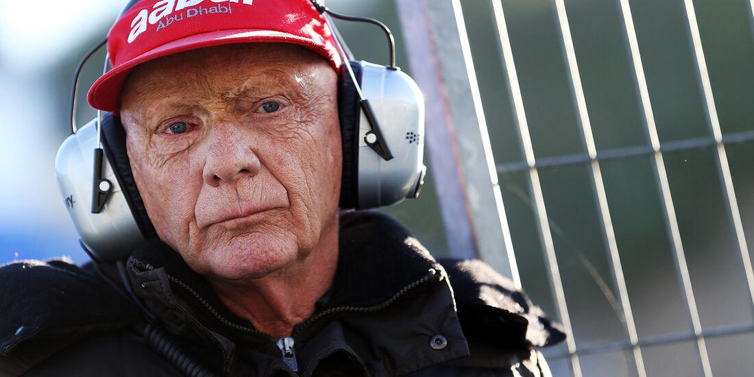 Niki Lauda, Mercedes GP, Formel 1-Test, Jerez, 6.2.2013