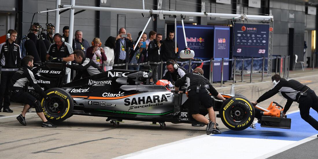 Nikita Mazepin - Force India - Silverstone-Test - 12- Juli 2016