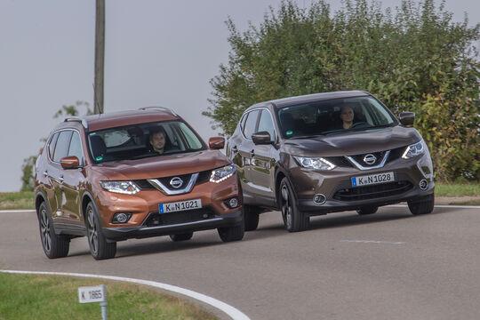 Nissan Qashqai, Nissan X-Trail, Frontansicht