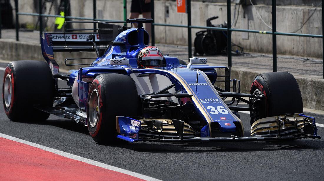Nobuhiro Matsushita - Sauber - Formel 1 - Budapest - Test - 2. August 2017