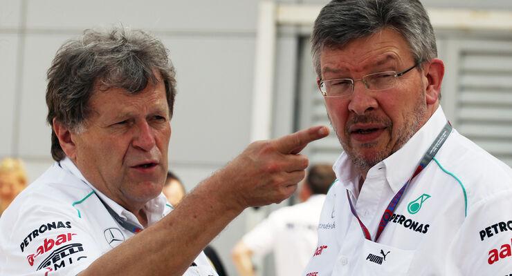 Norbert Haug & Ross Brawn - GP Malaysia - 24. März 2012