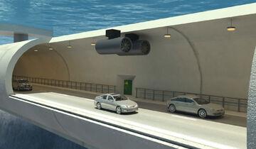 Norwegen schwimmende Tunnels Tunnel