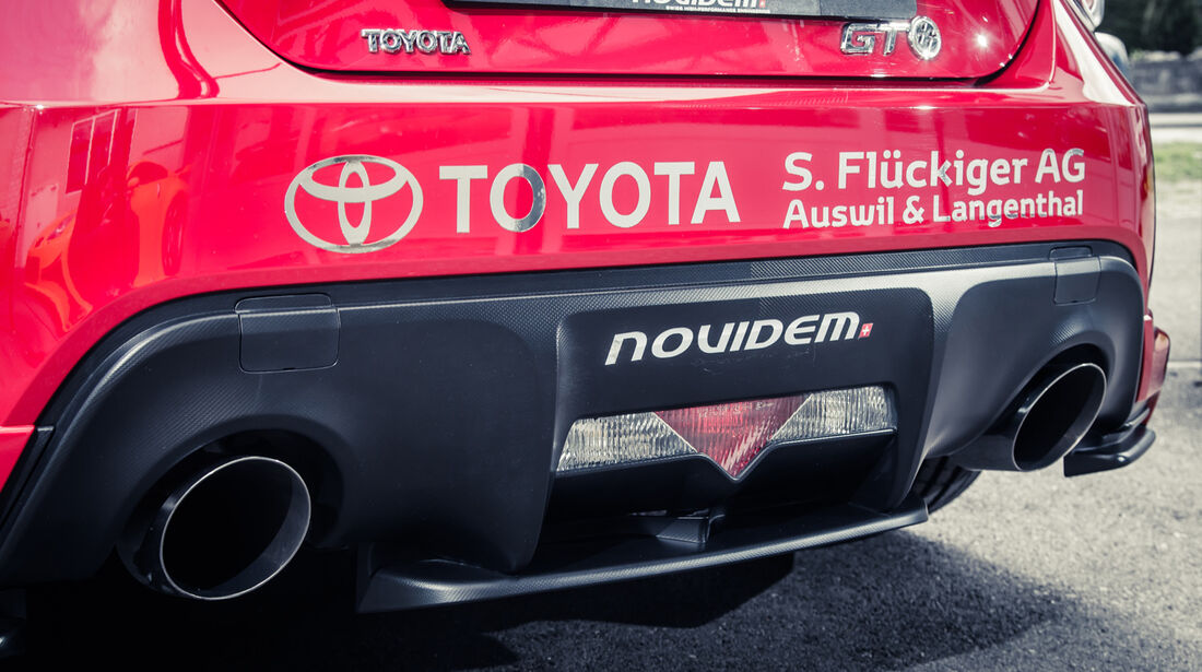 Novidem-Toyota GT86, Auspuff, Endrohre