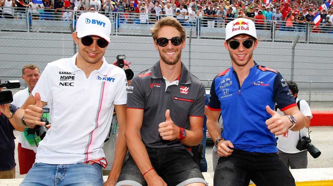 Ocon, Grosjean & Gasly - GP Frankreich 2018