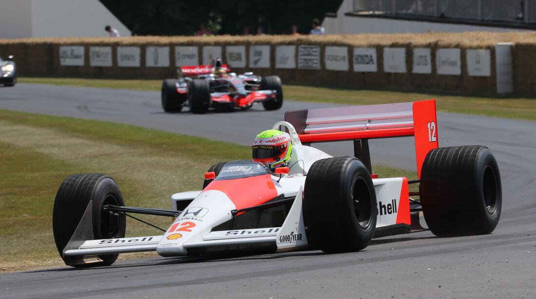 Olvier Turvey - McLaren MP4/4 - Goodwood 2013