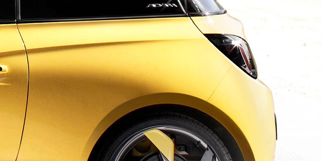 Opel Adam, Heck, Felge