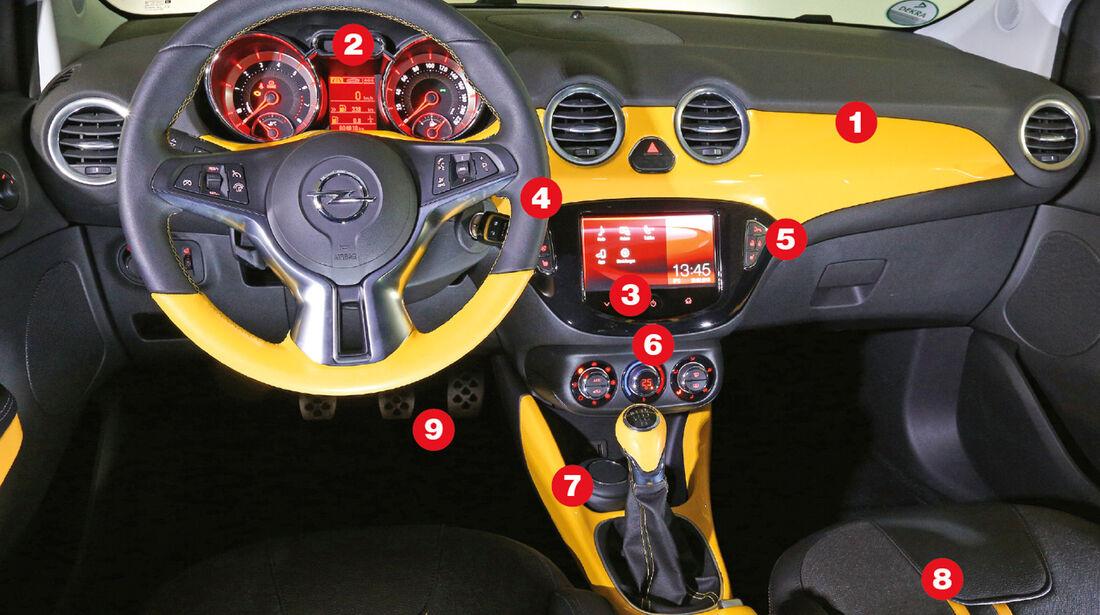 Opel Adam, Slam-Cockpit