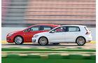 Opel Astra 2.0 CDTi Biturbo, VW Golf GTD, Seitenansicht