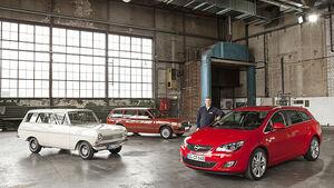 Opel Astra Sports Tourer, Opel Kadett A, Opel Kadett D Caravan