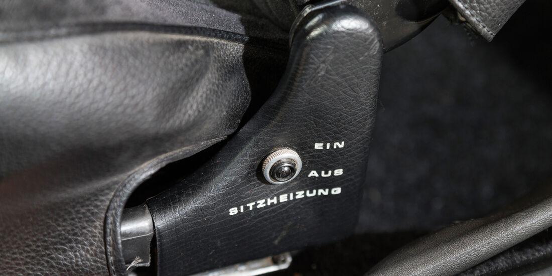 Opel Commodore GS/E, Sitzverstellung