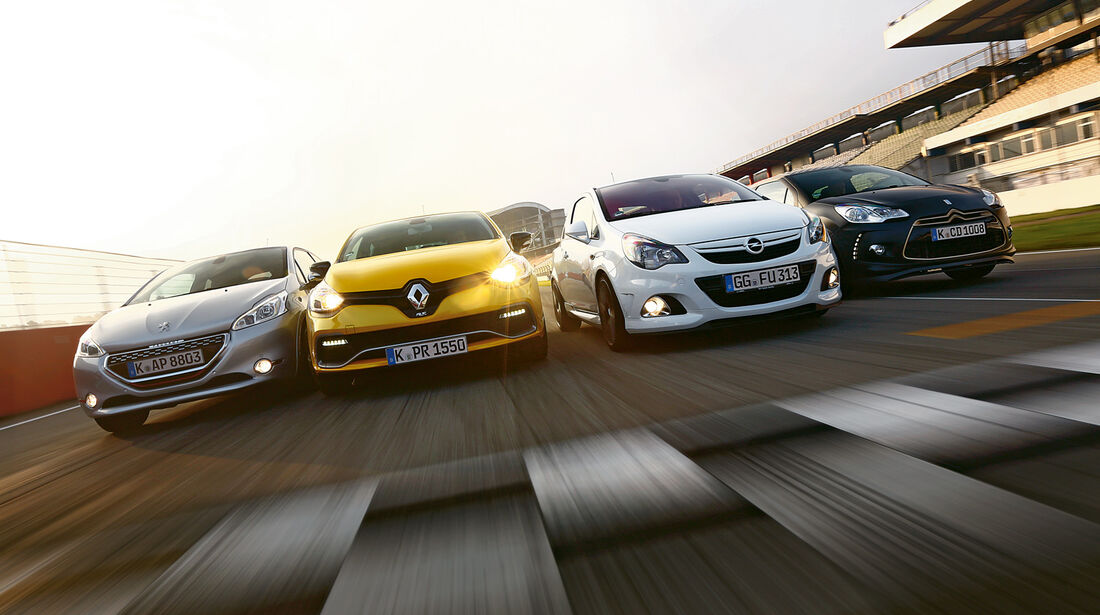 Opel Corsa OPC Nürburgring Edition Renault Clio R.S., Peugeot 208 GTi, Citroën DS3 Racing Edition 2013
