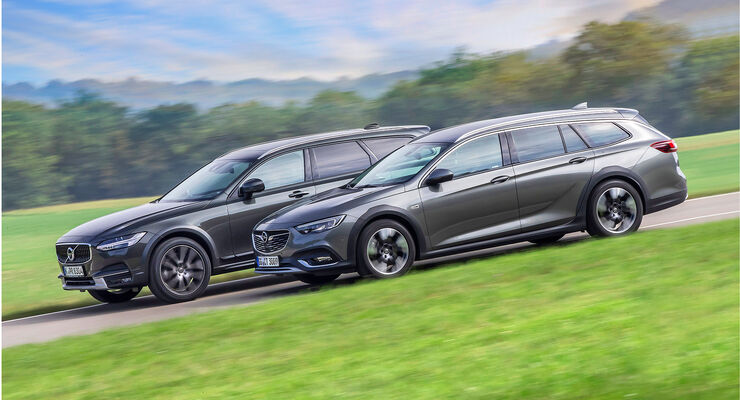 test: opel insignia country tourer, volvo v90 cross country - auto
