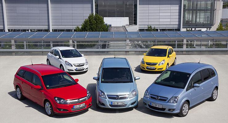 Opel LPG-Modellpalette