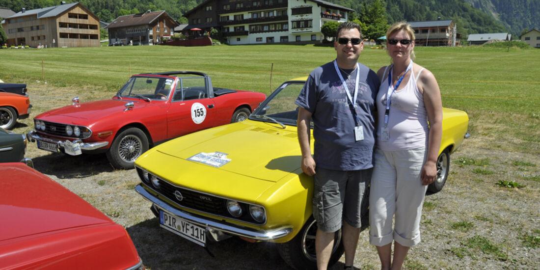 Opel Manta A bei der Silvretta Classic 2010 - Stephan Mühlbrandt und Nicole Stoll