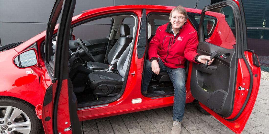 Opel Meriva 1.6 CDTi, Fondsitz, Aussteigen