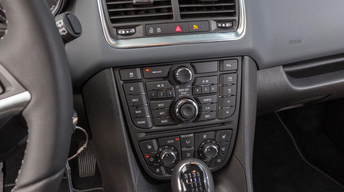 Opel Meriva 1.6 CDTi, Mittelkonsole