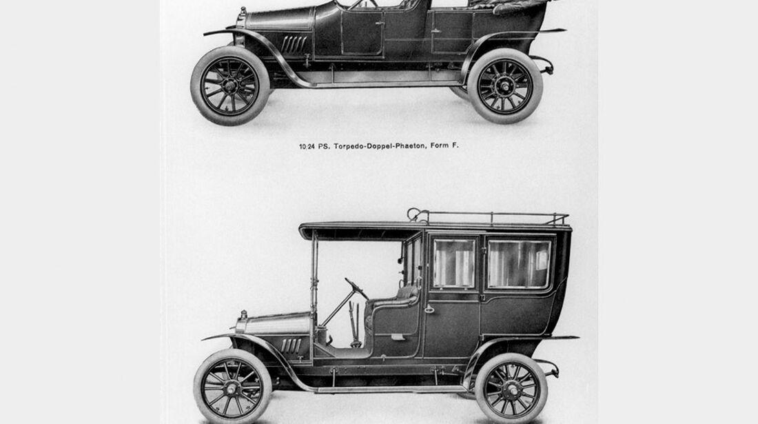 Opel Torpedo- Doppel-Phaeton, Limousine