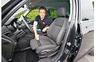 Opel Zafira, Fahrersitz