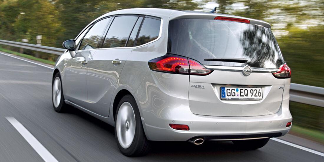 Opel Zafira, Heck