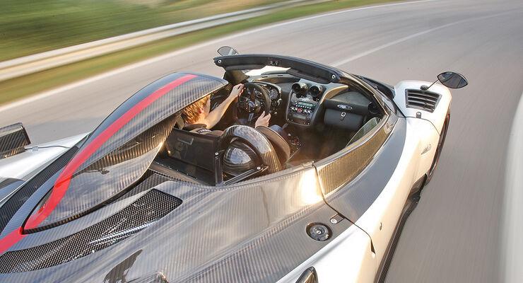 Pagani Zonda Cinque Roadster, Ansaugschnorchel, Cockpit