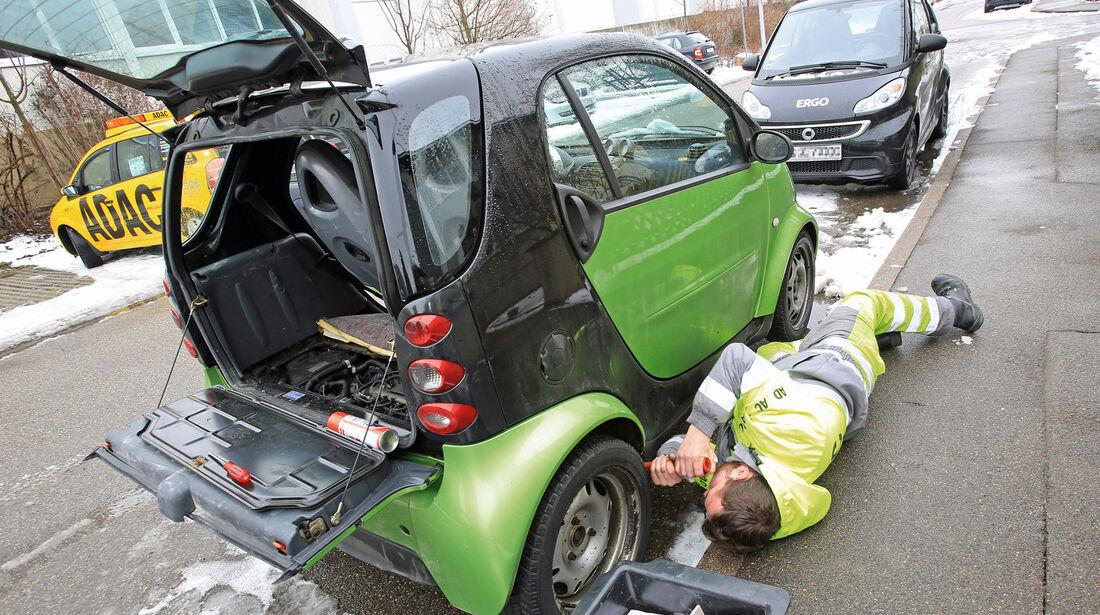 Pannenhilfe, Smart, Dieselpumpe