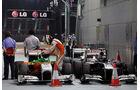 Parc Ferme GP Singapur 2011