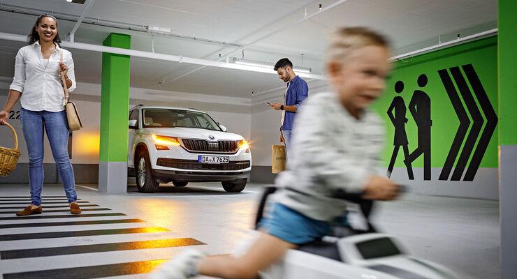Parken mit Skoda Connected